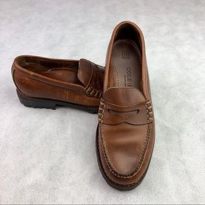 Cole Haan Penny Loafers Moc Toe Leather 7 1/2 AA
